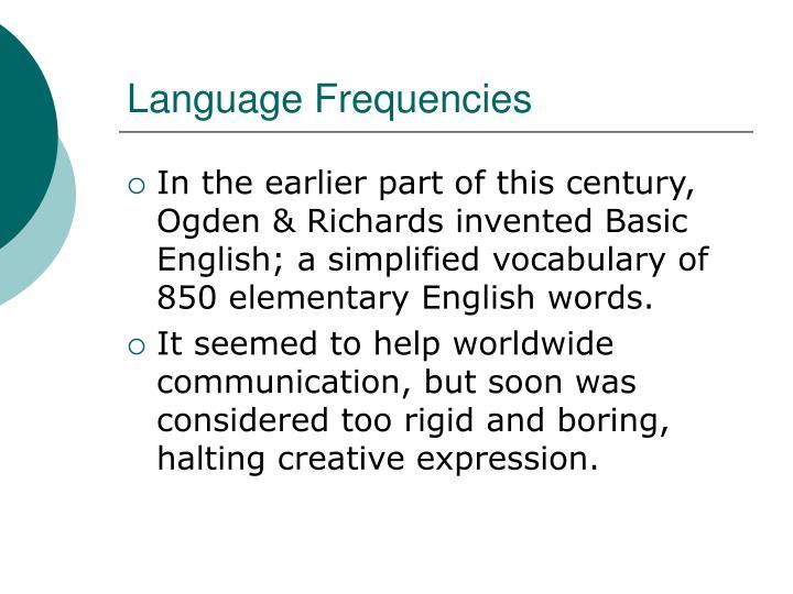 Language Frequencies