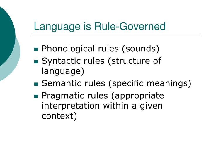 Language is Rule-Governed