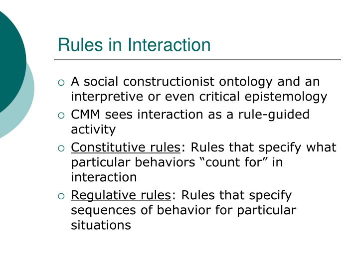 Rules in Interaction