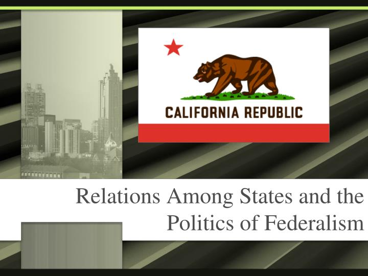 relations among states and the politics of federalism
