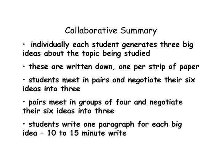 Collaborative Summary