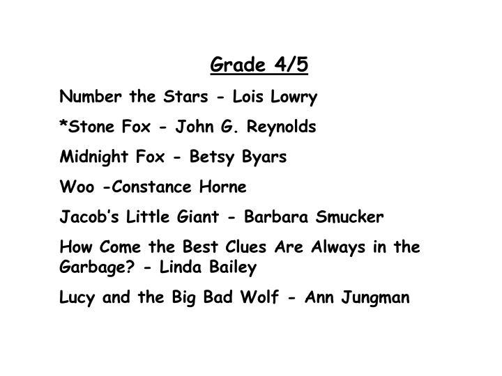 Grade 4/5