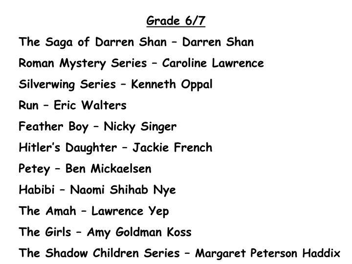Grade 6/7