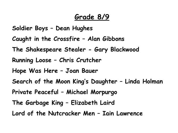 Grade 8/9