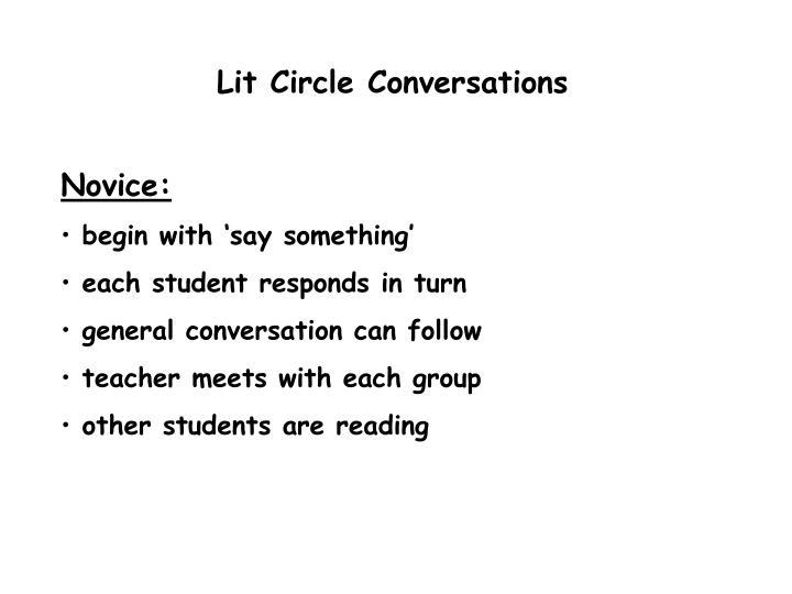 Lit Circle Conversations