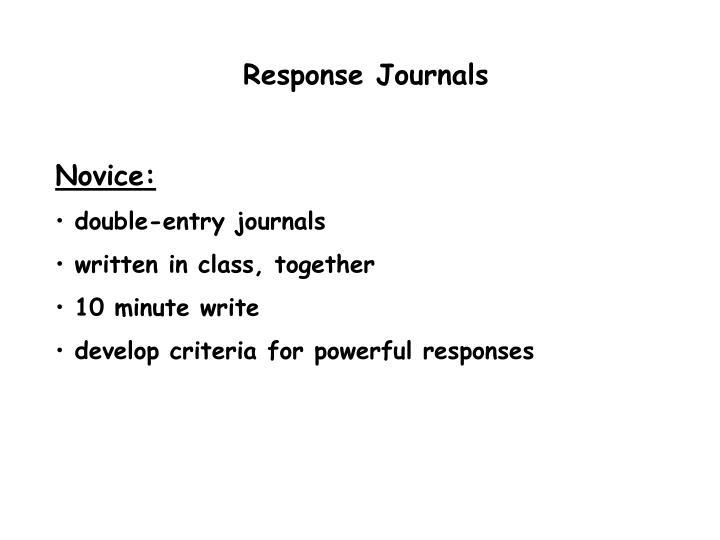 Response Journals