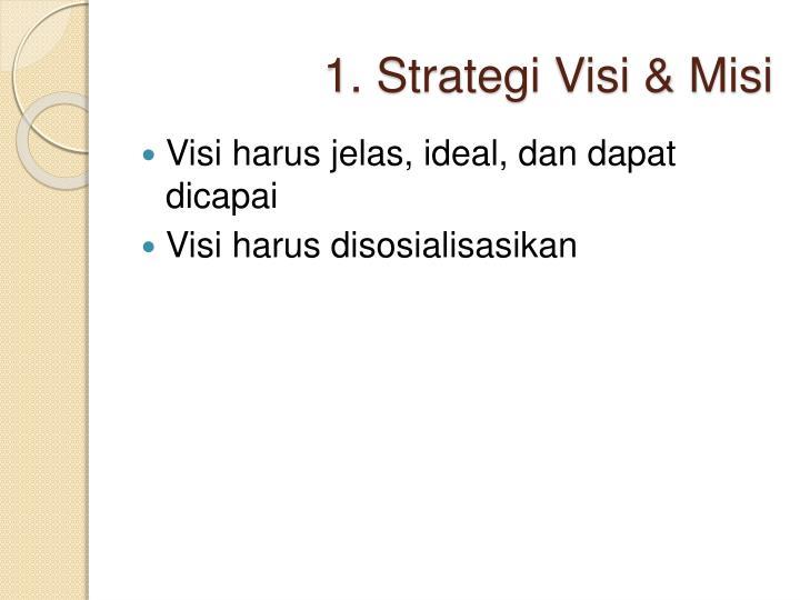 1. Strategi Visi & Misi