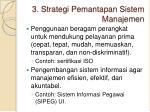 3 strategi pemantapan sistem manajemen
