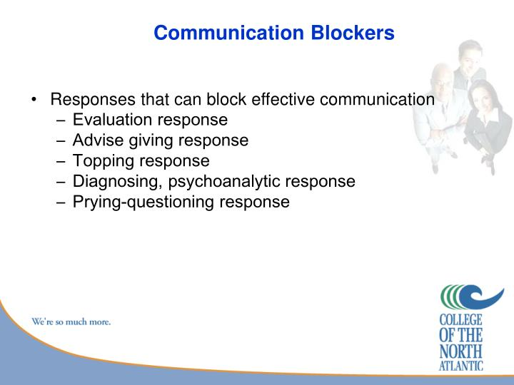 Communication Blockers