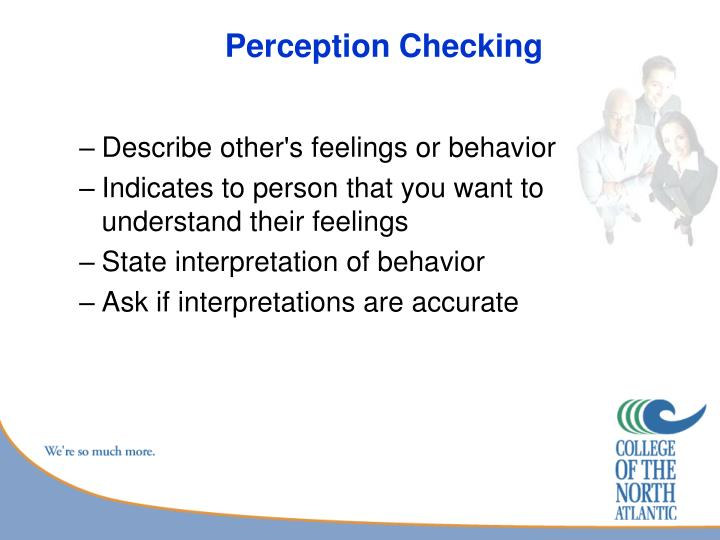 Perception Checking