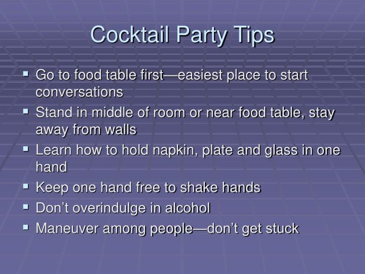 Cocktail Party Tips