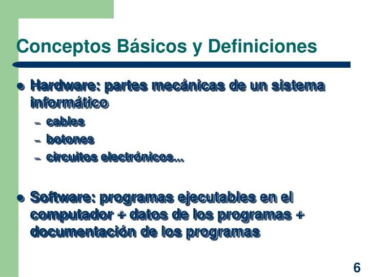 Conceptos Básicos y Definiciones