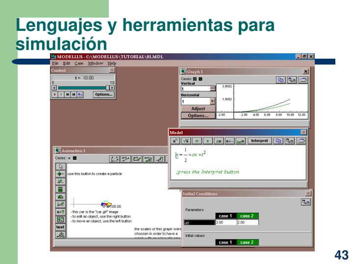 Lenguajes y herramientas para simulación