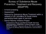 bureau of substance abuse prevention treatment and recovery bsaptr