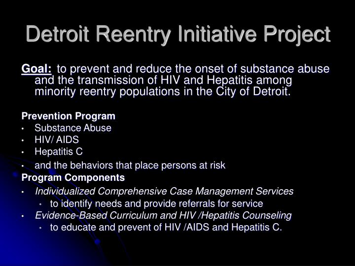 Detroit Reentry Initiative Project