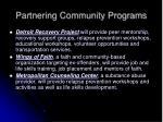 partnering community programs