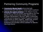 partnering community programs1