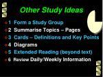 other study ideas
