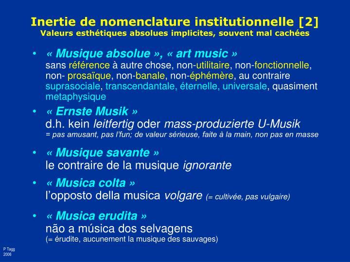 Inertie de nomenclature institutionnelle [2]