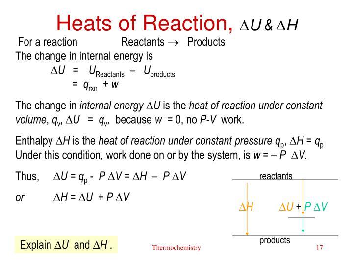 Heats of Reaction,