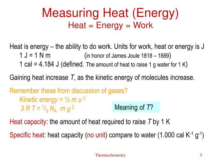 Measuring Heat (Energy)