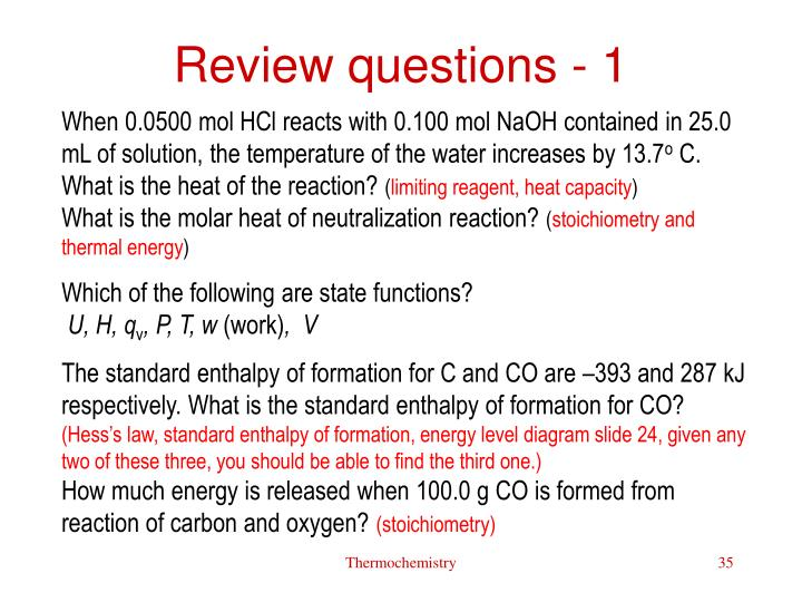 Review questions - 1
