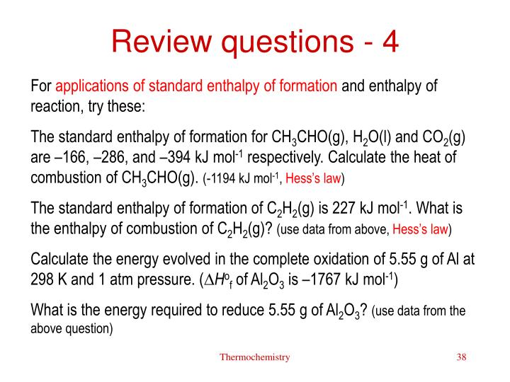 Review questions - 4