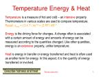 temperature energy heat