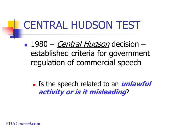 CENTRAL HUDSON TEST
