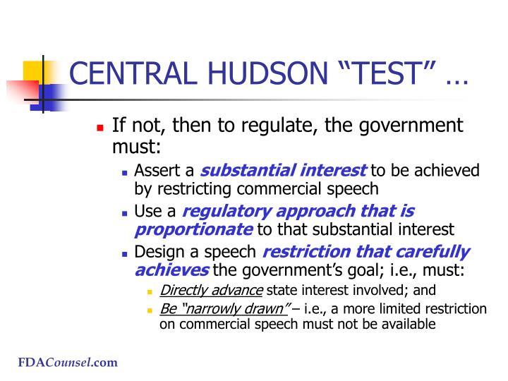 """CENTRAL HUDSON """"TEST"""" …"""