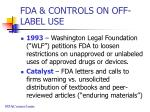 fda controls on off label use