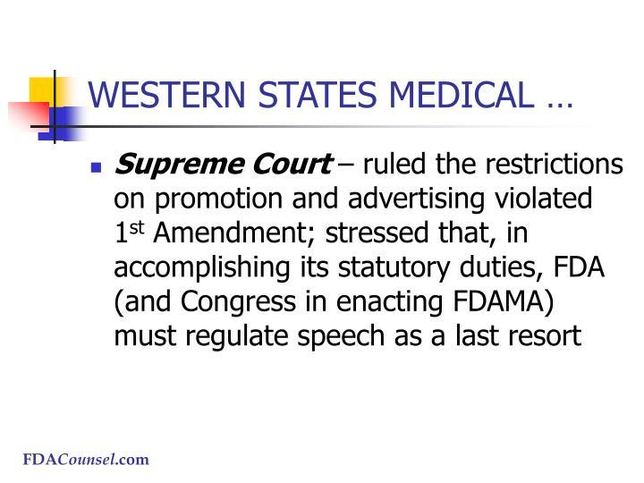 WESTERN STATES MEDICAL …