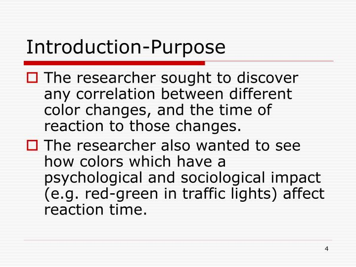 Introduction-Purpose