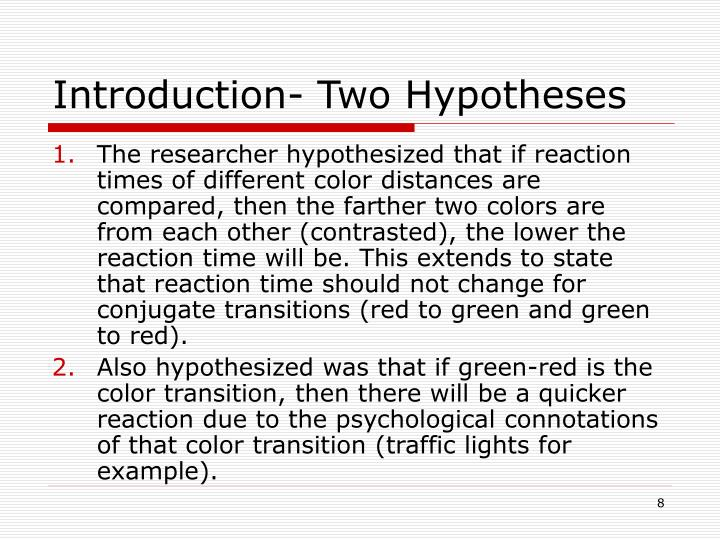 Introduction- Two Hypotheses