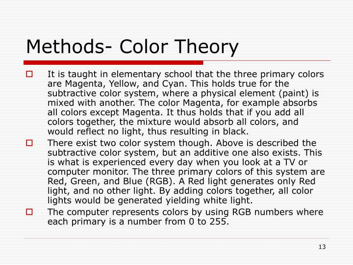 Methods- Color Theory