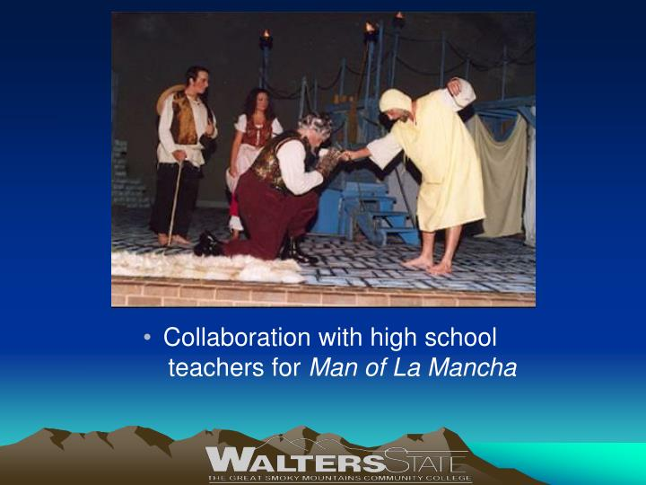 Collaboration with high school teachers for