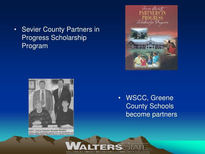Sevier County Partners in Progress Scholarship Program