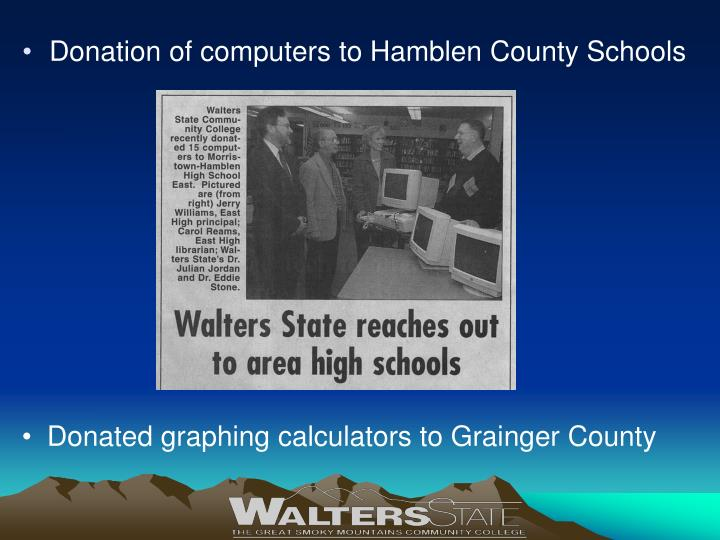 Donation of computers to Hamblen County Schools
