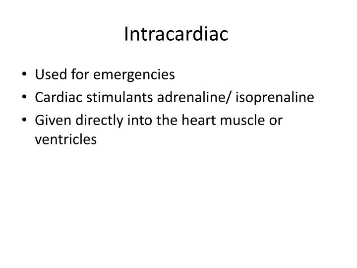 Intracardiac