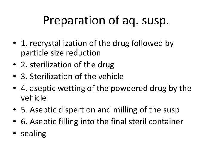 Preparation of aq.
