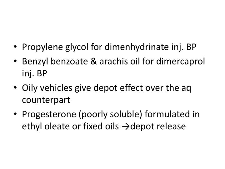 Propylene glycol for