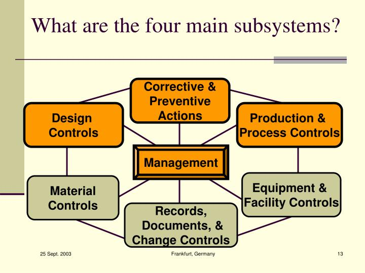 What are the four main subsystems?