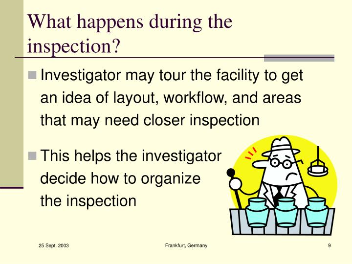 What happens during the inspection?