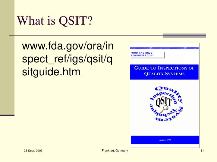 What is QSIT?