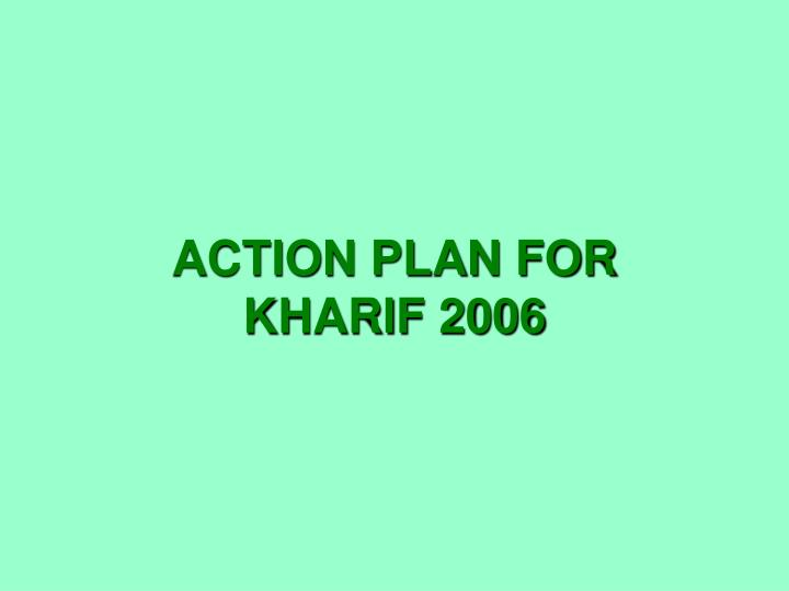 ACTION PLAN FOR