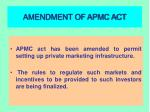 amendment of apmc act