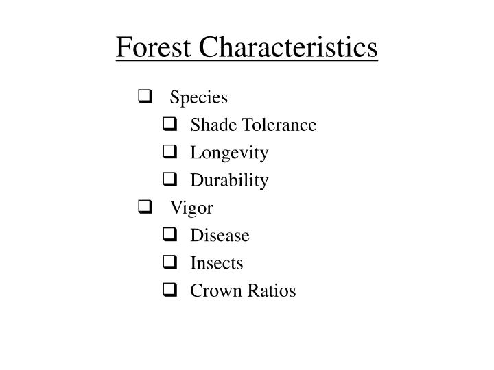 Forest Characteristics