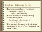routing distance vector
