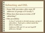 subnetting and dsl