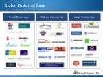 global customer base